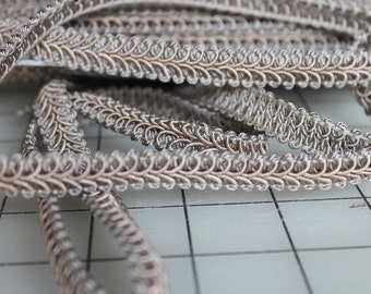 1 Yard 22 Inches Gray Classic Woven Braided 1/2 Inch Gimp Sewing Crafting Upholstery Finishing Heavy Quality WholesaleBraided Gimp Trim