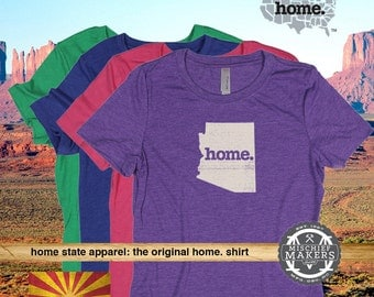 Arizona Home. T-shirt- Womens Red Green Royal Pink Purple