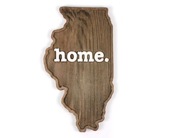 Illinois home. Rough Cut Mill Wood Wall Hanging