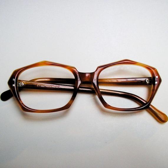 Vintage Eyeglass Frames New Old Stock : VINTAGE 1960s EYEGLASSES: New Old Stock Caramel Orange