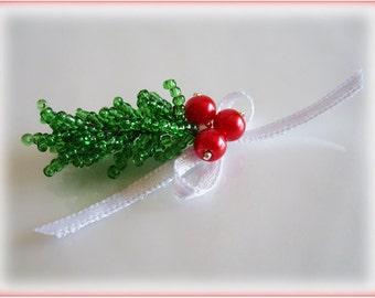 Christmas Tree Branch beading TUTORIAL