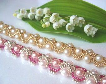 Golden Wave bracelet beading TUTORIAL
