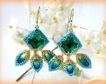 Shell earrings beading TUTORIAL