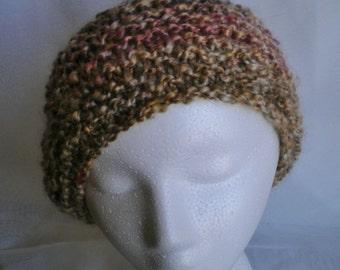 Handknit hat, bulky knit