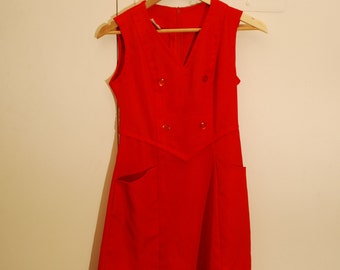 70's Red Pencil Dress