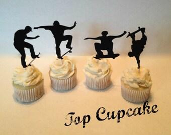 Skateboarding Cupcake Toppers