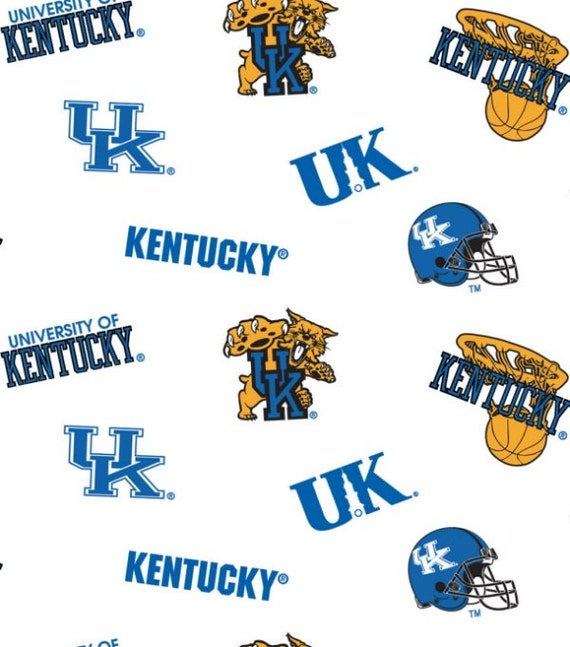 University of Kentucky Collegiate Cotton Fabric 1 Yard Sports