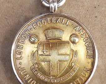 English Football Medal London Football Association L.F.A.Silver Gilt Medal