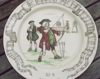 Vintage Archery Royal Doulton Diversions of Uncle Toby Series Plate