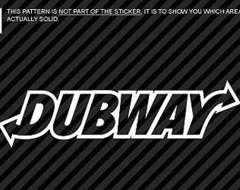 """DUBWAY Tuner Euro VW Lifestyle 7"""" Vinyl Decal Widow Sticker for Car, Truck, Motorcycle, Laptop, Ipad, Window, Wall, ETC"""
