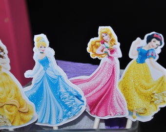 Disney Princess Cupcake Toppers Cake Toppers Set of 12