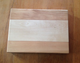 Birch and Cherry Butcher Block, with Padauk accents
