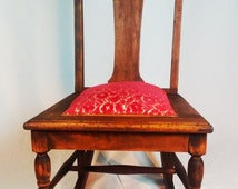 Antique Redesigned Mission Sewing Rocking Chair