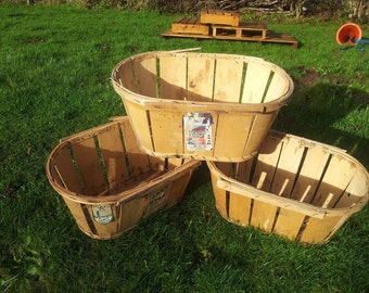 TRADITION FRENCH VINTAGE Mussy basket / crate geniune French - Rustic, Charming Shabby Chic