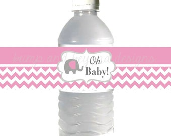 Baby shower water bottle labels | Etsy