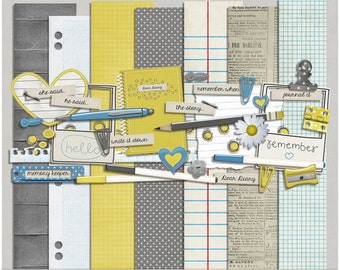 Write On - Papers & Elements for Digital Scrapbooking