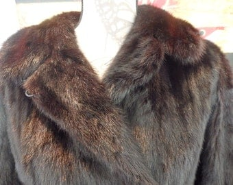 1960s Gorgeous mink double breasted mink jacket