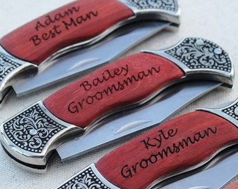 Personalized Pocket Knife, Engraved Pocket Knife, Custom Knife, Groomsmen Gifts, Knives for Groomsmen, Engraved Knife, Personalized Knife