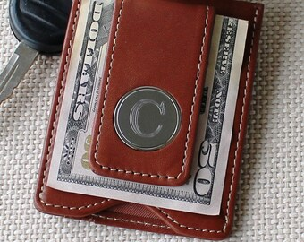 Personalized Leather Money Clip and Wallet Combo - Groomsmen Gift - Best Man Gift - Fathers Day Gift - Engraved, Monogrammed for Free