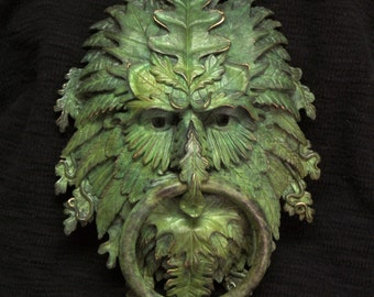 Bronze Greenman Door Knocker