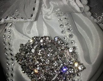 Bridal Purse, Wedding Bags, Bridal Accessories, Formal satin purse, Prom Bags, Bridal Money Bags
