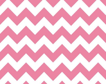 Hot Pink Chevron Medium Fat Quarter Riley Blake Fabric Cotton