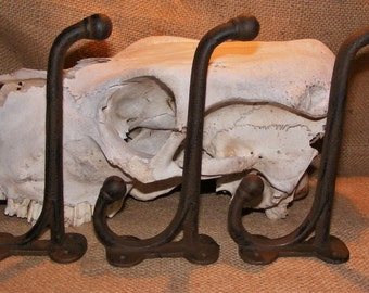 Cast Iron Harness Hook SET OF 6 Reproduction Antique Western Barn Rustic #115