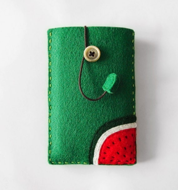 Felt phone case sleeve for iphone iphone4 by for Mobile case diy