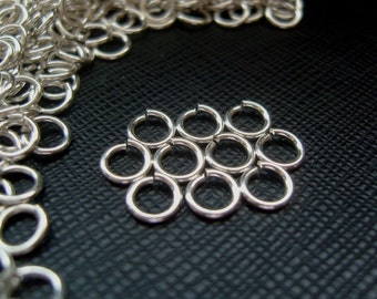 Solid Sterling Silver Jump Rings - Open 6mm Good Quality Heavy Strong