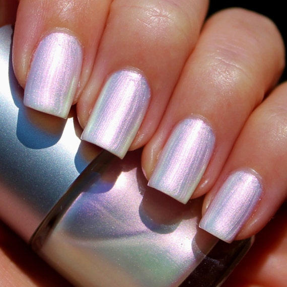 Pinkish White Nail Polish: White Opal Franken Nail Polish White Pearl Color With A