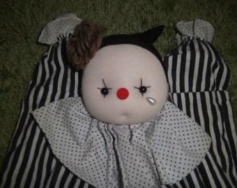 Black and white clown pj case.