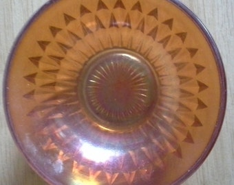 orange carnival glass bowl