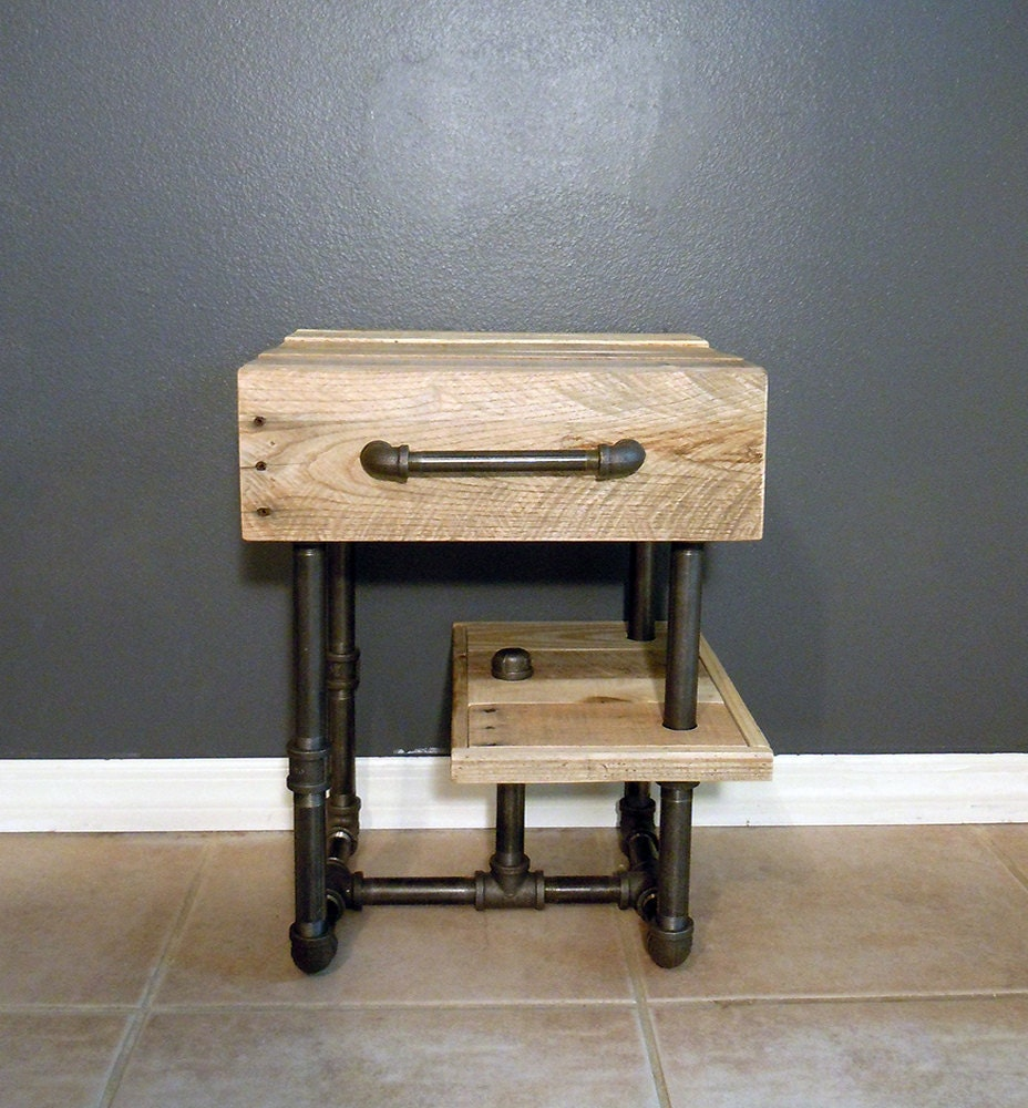Pallet And Pipes Nightstand Side Table By Sibusfurnituredecor