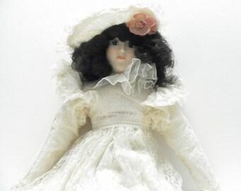 Vintage Designer Boudoir, Porcelain Bedroom Doll