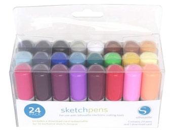 Silhouette Sketch Pen Starter Kit, 24 Pack