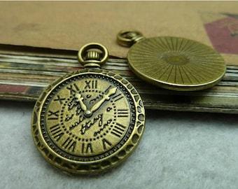 10pcs 21x30mm Antique Bronze  Clock Charms Pendants