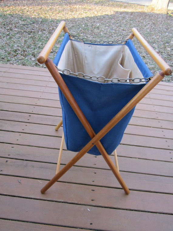 Knitting Bag Stand : Vintage knitting bag with stand craft yarn by