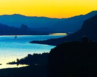 Sunrise on the Columbia River Gorge