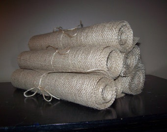 """SPECIAL PURCHASE - 1 SET Available 10 - 8 Foot 96"""" X 12""""  Burlap Table Runners Rustic Wedding Decor Country Chic Decorations"""