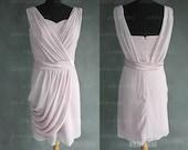 off shoulder bridesmaid dress, knee length dress bridesmaid, chiffon bridesmaid dress, short bridesmaid dress, cheap bridesmaid dress, RE204