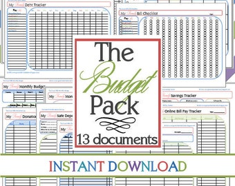 The Budget Pack EXPANDED (13 documents) INSTANT DOWNLOAD