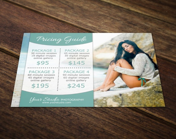 Photography Price List Template Photography Pricing Template - Price list brochure template