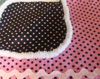 Poke-a-dot Pink 100% Flannel Baby Girl Blanket