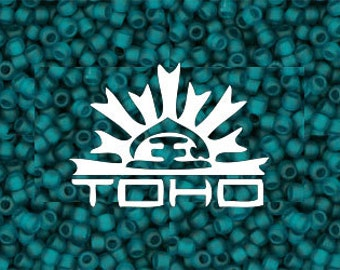 Frosted Teal Toho #7BDF Japanese Glass Size 11 Seed Beads 11/0 20g #z87