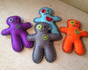 Voodoo doll pin cushion (one)