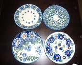 Polish Pottery UNIKAT  Salad plates