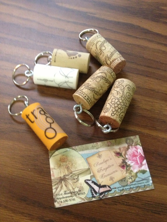 wine cork key chains. Black Bedroom Furniture Sets. Home Design Ideas