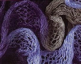 Katia Ondas Ruffle Scarf Yarn Color 77 Lilac Purple Grey. Great Buy!!  Regular price is 12.00.