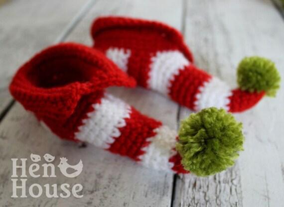 Mini Elf Shoe Santa Christmas Booties Newborn