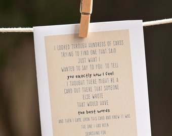Sarcastic Cards | Funny Card for Brother | Funny Card for Boyfriend | Cheeky Humor